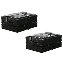 2 Odyssey FZCDJBL Black Label Pro DJ Cases - Pioneer CDJ800/CDJ1000/CDJ2000 etc.