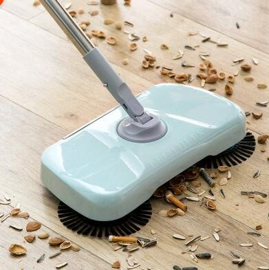 Hand push type electric sweeping machine household integrated sweeping mop  cleaning mop semi-automat