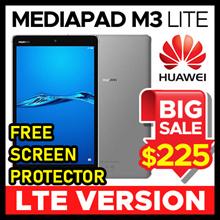 [NEW] HUAWEI MediaPad M3 Lite Tablet LTE VERSION CPN-L09 32GB / 3GB / 8 INCH (White / Space Grey)