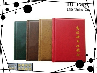 Qoo10 Commemorative Coin Collection Book 10 Pages 250 Units Coin