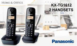 Panasonic KX-TG1612 DECT Cordless Caller ID Telephone With 2 Handsets..RED COLOR ONLY
