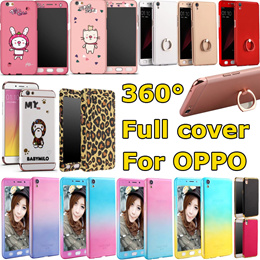 OPPO 360 degree full bady cover Rainbow ring holder Cortical for oppo r9 r9p r9s r9s p A57 A59 F1s