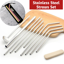 [my1stshop]Food Grade 304 Stainless Steel Straws / 7 Colors Straws Set / Eco Friendly