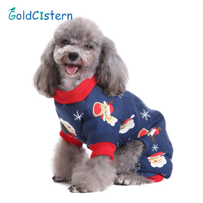 Christmas Pajamas For Dog.Santa Claus Four Legged Puppy Doggy Clothes Christmas Dog Pajamas Dog Jumpsuits For Chihuahua