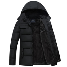 2016 winter coat with padded velvet coat middle-aged male aged mens jacket thick coat