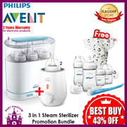 Philips Avent 3 in 1 Electric Steam Sterilizer with Warmer Bundle