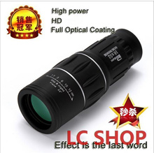 Nitrogen waterproof all-optical green film monocular telescope 16X52 binoculars for travel Hunting h