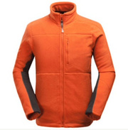666c7bf8e5250 Mens Outdoor Sports Thick Fleece Stand Collar Solid Color Jacket Polyester  Warm Coat