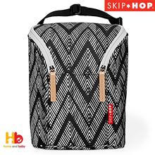 Lewati Hop GrabGo Double Bottle Bag- Zig Zag Zebra