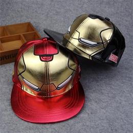 ea3cbe4b0a9 Iron Man baseball cap New Fashion Snapback Hats brand Hip-hop cap Bone aba  reta