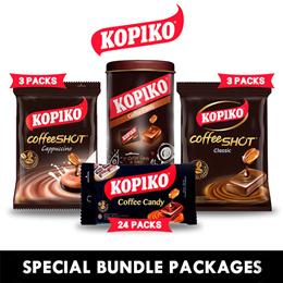[Get 3Packs] KOPIKO Coffee Candy_Coffeeshot Classic - Cappucino/Blister/Festives_3 x 50pcs