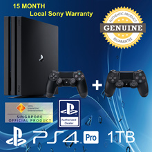 Exclusive [Gaming World] PS4 1 TB Pro Console with 2 CONTROLLER! Increased Power Intense Graphics.Faster, Smoother Stable Frame Rates. Local Stocks and Warranty!