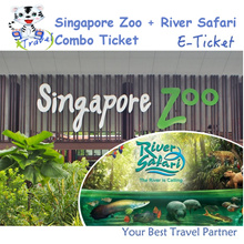 【99 TRAVEL】Singapore Zoo (tram ride) +River Safari (boat ride) E-ticket 新加坡日间动物园电子票+河川生态园+船票