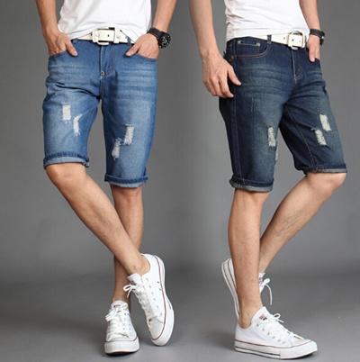 b449c2159 Plus Size Men Short Jeans Mens Fashion Denim Pants Men Short Pants S-6XL  Ripped