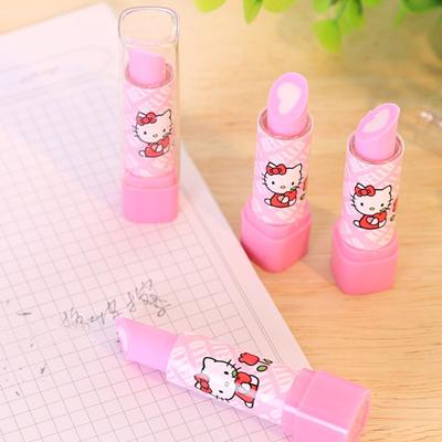 5db78566f 5pcs hello-kitty lipstick eraser, creative stationery, creative Korea cute  pupil eraser for