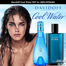 DAVIDOFF COOL WATER EDT for MEN 125ml/EDT for WOMAN 100ml Tester / Retail Packaging