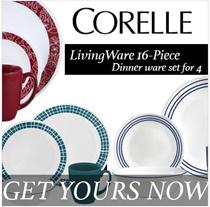 [16 Pcs | 20 Pcs] Corelle Livingware Dinnerware Set for 4 | Pyrex Food Storage Glassware