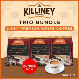 Killiney 2-in-1 Premium White Coffee Trio Bundle