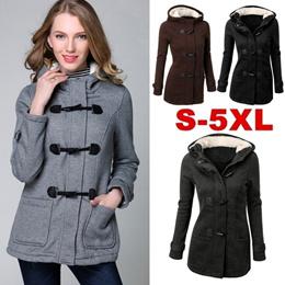 Winter Warm Womens Claw Clasp Wool Blended Classic Pea Coat Jacket (S-XXXXXL,Black,Grey,Dark Grey,Co