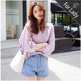 ●For Lady● New Arrivals casual tops / Shirt / Basic design / Blouses