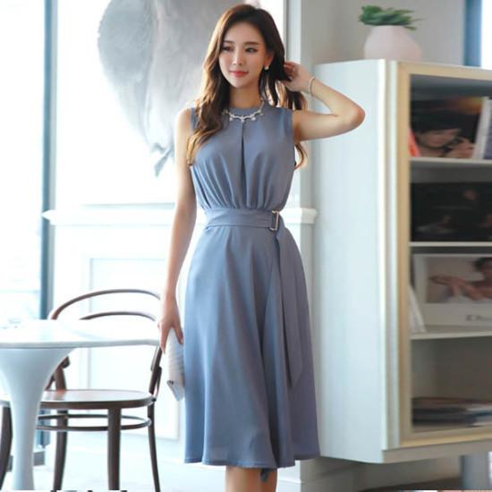 スタイルオンミヨシンピッベルトストラップナシワンピース 塔/袖なしのワンピース/ 韓国ファッション