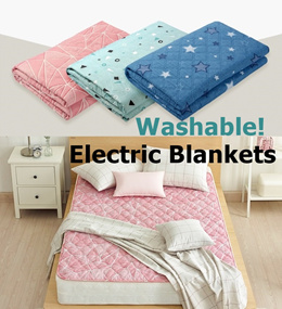 GOMPYO Hanil Washable Electric Heating Blanket /Warm Pad Blankets Size SML