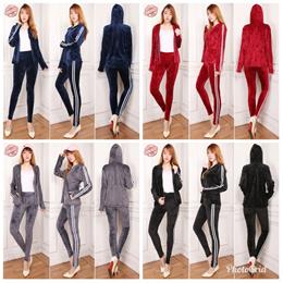 Stelan Sport Veo Jacket Outwear dan Longpant Senam Jumbo Wanita