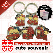 Wedding Gifts/Keychain/Wedding Cartoon Keychain/gifts/souvenir/small pouch