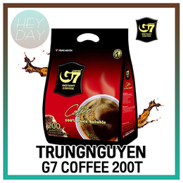 [Trung Nguyen] G7 Pure Black Coffee 2g  x 200T/Instant Coffee/Vietnam Ground Coffee/HomeCafe/America