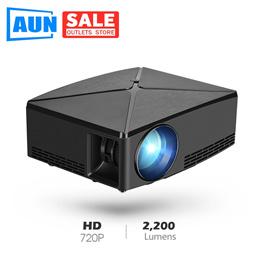 AUN C80 HD MINI Projector 1280x720P Video Beamer3D Projector. Support 1080PHD INUSB (Optional
