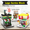 1 Pcs [ Satuan ] !!!  LE GO SEMBO BLOCK MINI CITY SERIES SD 6010 | 6011 | 6012 | 6013 | 6014