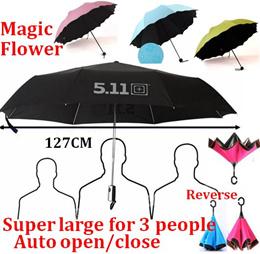 Auto open close Magic Umbrella/UV light Super Large Reverse Umbrella/Nano/511 Tactical Umbrella