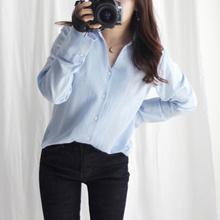 Twenties rose Tumi open collar shirt Best seller [Korean women