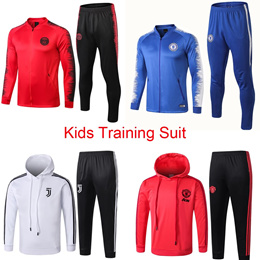 Kids Soccer Training Suit Youth Football Jacket Suit 19-20 Children Tracksuit Sportswear