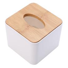 Mayitr Tissue Box Wooden Cover Paper Napkin Holder Case Home Room Car Hotel Tissue Box Holder