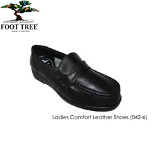 [FootTree] Ladies Comfort Leather Shoes/ [SKU 042-6]/Black color