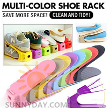 【SG lowest price $1.88】 Creative Plastic Shoes Rack Organizer Space Saving Storage Adjustable