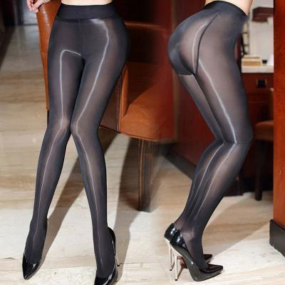 4b509306561e95 Sexy Black/Skin Shiny Women Tights Stockings Erotic Lingerie Sexy Pantyhose  Tights Women Ladies