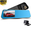 Rearview Mirror Car DVR Recorder Full HD 1080P Novatek 96650 Review Mirror Camcorder 170 Large Angle/ Night Vision/Dual Camera Lens