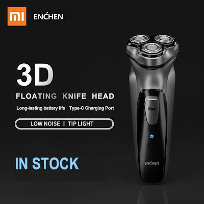 Xiaomi China Xiaomi 2019 New Enchen Blackstone 3d Electric Shaver Razor Men Washable Type C
