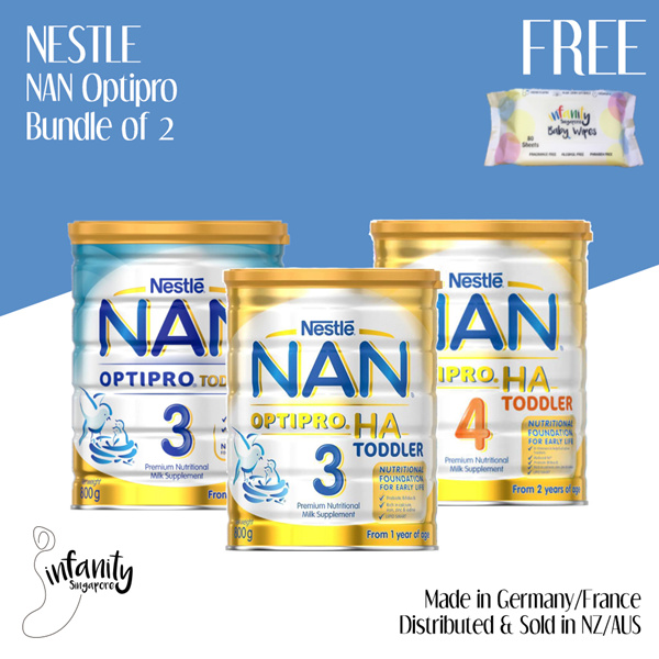 [Apply Coupon]Nestle NAN Optipro/HA Formula Milk Stage 3 and 4 / Sold in  Aus and NZ