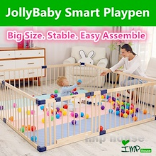 ★IMP HOUSE★[Baby Safety][JollyBaby Wooden Playpen/Play Yard] Keep your baby safe