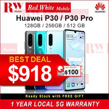 Huawei P30 Huawei P30 Pro Huawei Phone Mobile  SG 2 Years Warranty Redwhitemobile ( 256GB )