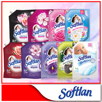 [Softlan] BUNDLE of 6 Spring Fresh Fabric/Floral Fantasy/Lavender Fresh/Charcoal Conditioner Refill