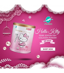 2 months supply [FUNCARE] HELLO KITTY PEARL EDITION FISH COLLAGEN POWDER *Exp Date Mar2019