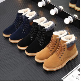 Winter warm velvet and thicken casual shoesBritish style antiskid ugg boots cotton shoes