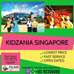 [Fil Air]Kidzania Singapore [Q10 Best Price Guaranteed/OPEN-DATED TICKET - Work Learn Earn and Play!