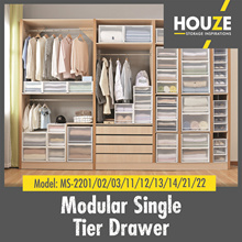 Online Exclusive ♦ [Bundle of 3] Modular Single Tier Drawer ♦ Stackable ♦ Strong And Durable ♦