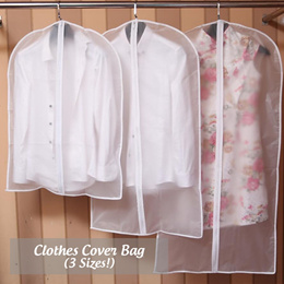 [SG Local Fast Delivery] Clothes / Blazer Cover Bag ★ Dust and Damp-Proof See-Through Protection!