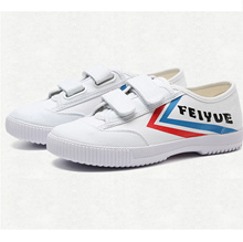 FEIYUE velcro shoes  spring new  men s shoes  white shoes  sports shoes